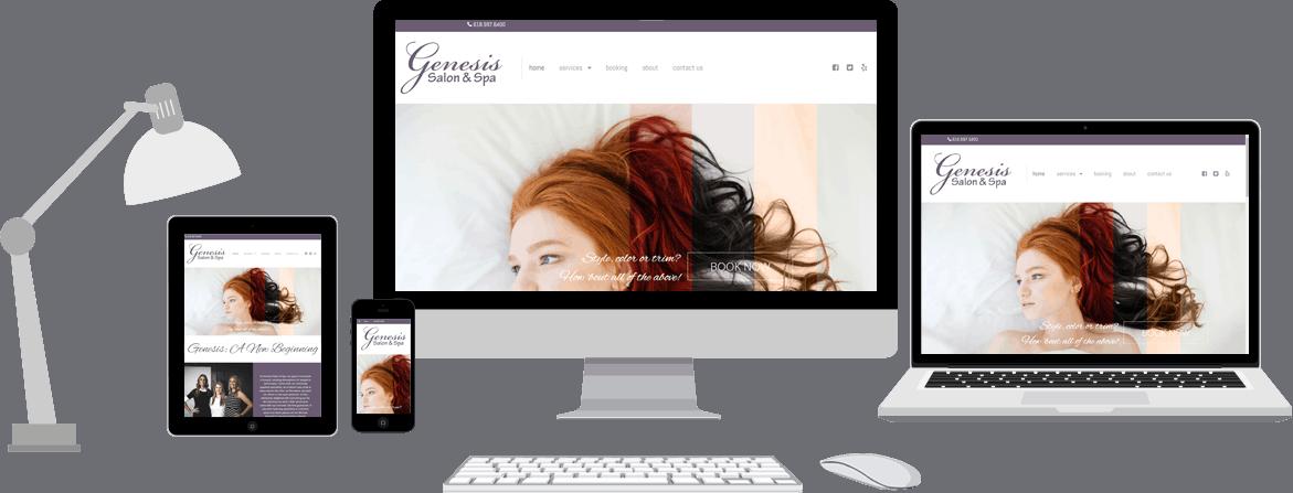 Genesis Salon & Spa — website & photography   Tech Guy
